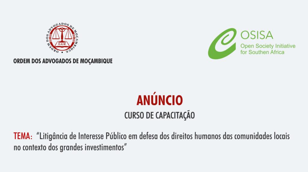 Litigância de Interesse Público em defesa dos direitos humanos das comunidades locais no contexto dos grandes investimentos