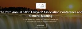 Sadcla 20Th Agm & Conference Victoria Falls August 8-11 2019