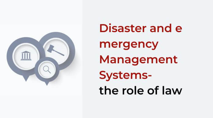 FORMAÇÃO-Disaster and emergency Management Systems – the role of law